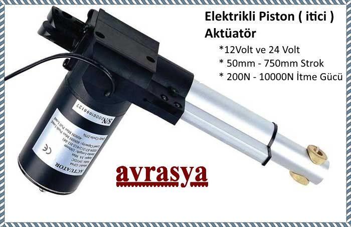 12V 24V elektrikli piston
