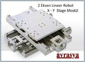 2 eksen robot x y stage