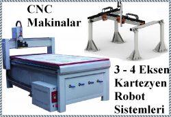 3 - 4 Eksen CNC Makina ve Otomasyon